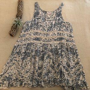 Free People Flowered Lace Slip Dress sz S
